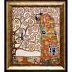 La Pastiche 'Fulfillment' by Klimt Framed Painting