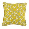 Brite Ideas Living Woburn Sunflower Self Backed Corded Cotton Throw Pillow