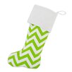 Brite Ideas Living Zig Zag Lined Trimmed Christmas Stocking
