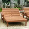 Best Redwood Summer Double Chaise Lounge