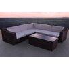 Solis Patio San Mateo 6 Piece Seating Group with Cushion