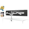 ESI Ergonomic Solutions Evolve-Series Height Adjustable 3 Screen Desk Mount