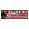 Rivers Edge Beware of Dog Tin Sign Wall Décor