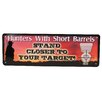Rivers Edge Hunters with Short Barrels Tin Sign Wall Décor