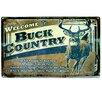 Rivers Edge Buck County Tin Sign Wall Décor