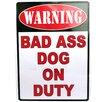 Rivers Edge Warning Bad Dog Tin Sign Wall Décor