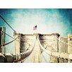 "Jaxson Rea ""Vintage Brooklyn Bridge"" by Ashley Davis Photographic Print on Wrapped Canvas"