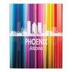 DiaNoche Designs City II Phoenix Arizona by Angelina Vick Graphic Art on Wood Planks