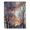 DiaNoche Designs Winter Watch by Anne Gifford Painting Print on Wood Planks