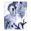 DiaNoche Designs Midnight Owl by Dawn Derman Painting Print on Wood Planks