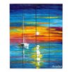 DiaNoche Designs Lost at Sea by Jessilyn Park Painting Print on Wood Planks