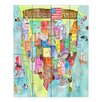 DiaNoche Designs United States MAP by Marley Ungaro Painting Print on Wood Planks in Turquoise