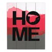 DiaNoche Designs Home Spain Magenta by Jackie Phillips Textual Art on Wood Planks