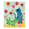 DiaNoche Designs Retro Cats by Sascalia Graphic Art on Wood Planks