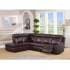 Amax Portland Leather Recliner Sectional