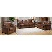 Amax Aspen 3 Piece Leather Living Room Set