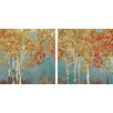 """Star Creations """"First Moment"""" by Allison Pearce 2 Piece Painting Print on Wrapped Canvas Set"""