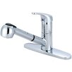 Olympia Faucets Single Handle Kitchen Faucet with Deck Cover Plate