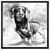 The Art Cabinet Dachshund by Hatcher and Ethan Framed Painting Print