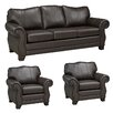 Coja Huntington Italian Leather Sofa and 2 Chair Set (Set of 3)