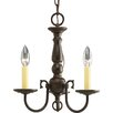 Progress Lighting Americana 3 Light Mini Candle Chandelier
