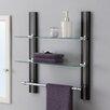 "OIA 19.63"" W x 22.5"" H Bathroom Shelf with Towel Bar"