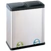 OIA 15.85-Gal. Step-On Multi Compartment Recycling Bin