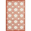 Safavieh Amherst Ivory/Orange Outdoor Area Rug