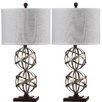 """Safavieh Haley Spher 28"""" H Table Lamp with Drum Shade (Set of 2)"""