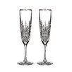 Waterford Lismore Diamond Champagne Flute Glass (Set of 2)