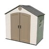 Lifetime 8 Ft. W x 5 Ft. D Plastic Storage Shed