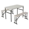 Lifetime 3 Piece Recreation Rectangular Folding Table Set