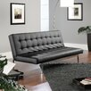Sauder Avenue Convertible Sofa in Black