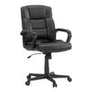 "Sauder Gruga Manager""s High-Back Leather Executive Chair"