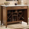Sauder Carson Forge Kitchen Island with Faux Marble Top