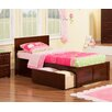 Atlantic Furniture Orlando Twin XL Panel Bed with Drawers