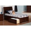 Atlantic Furniture Portland Twin XL Sleigh Bed with Drawers