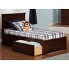Atlantic Furniture Madison Twin XL Panel Bed with Drawers