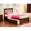 Atlantic Furniture Mission Twin XL Slat Bed
