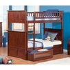 Atlantic Furniture Bunk Bed with Raised Panel Drawers