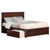 Atlantic Furniture Urban Lifestyle Madison Panel Bed with Storage