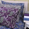 Simple Luxury Paisley and Solid Flannel Cotton Sheet Set