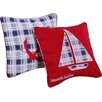 Greenland Home Fashions Nautical Stripe 2 Piece Cotton Pillow Set