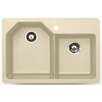 "Astracast 33"" x 22"" Arion Granite ROK Double Bowl Kitchen Sink"
