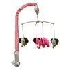 Bacati Elephants Pink & Beige Musical Mobile