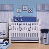 Bacati Little Sailor 10 Piece Crib Bedding Set with Bumper