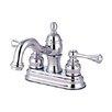 Elements of Design Vintage Centerset Bathroom Faucet with Double Buckingham Lever Handles