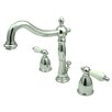 Elements of Design Widespread Bathroom Faucet with Double Georgian Lever Handles