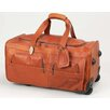 "Claire Chase Luggage 22"" 2-Wheeled Leather Travel Duffel"