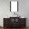 "Virtu Dior 64"" Single Bathroom Vanity Set with Mirror"